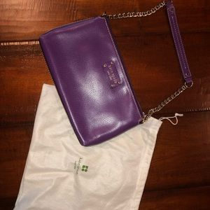 Kate spade small purse with chain shoulder strap